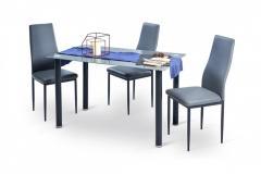 """Комплект \""""Мирра\"""" (1+4) Домини Мебель 1200х700х725 (серый/черный)"""