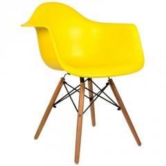 """Кресло \""""Прайз\"""" (ПЛ желтый) Домини Мебель (ольха)"""