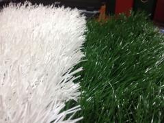 Трава искусственная белая, хорошего качества для разметки 40мм