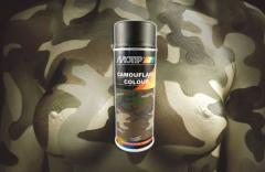 Spray MOTIP paint camouflage