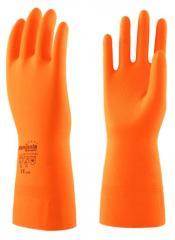 Перчатки Цетра L-F-04 (латекс, внутр. х/б напыл-е,