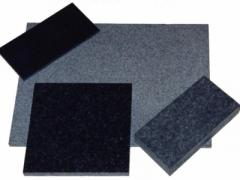 Tile from a natural stone, the Tile facing of a