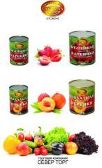 Персики 425 мл консервированные