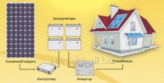 Mini-power plant on solar batteries