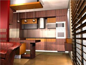 Rolling shutters for kitchen