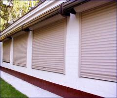 Rolling shutters plastic