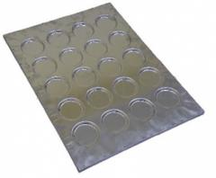 Aluminum baking tray for baking of hamburgers and