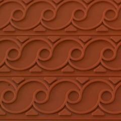 Рельефный коврик из силикона - волна