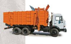 The garbage truck with side loading of KO-115A