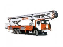 Autolift cranked fire AKP-30 (KAMAZ-53215 chassis
