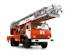 Autoladder fire AL-50 (KAMAZ-53229 chassis 6х4)