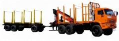 Road train log hauler 54021-01 (KAMAZ-53215
