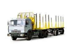 Road train log hauler 58701-11 (KAMAZ-53215
