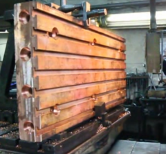 Water-cooled copper bars (caissons)