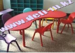 Стол детский пластиковый палитра Красный