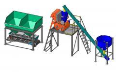 Pass concrete plant on 15 cubes/h