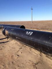 Second-hand pipe from under d 1020 oil, a wall of
