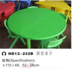 Children's plastic table with stools