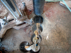 Diamond drilling of openings. Diamond drilling of
