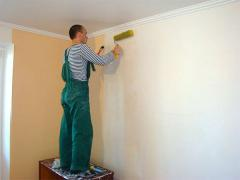 Wall-paper under painting