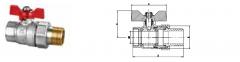 Кран шаровой HLV-101228 Optima угловой с
