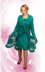 """Summer knitted coat """"Stars in Ruches"""
