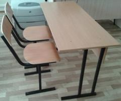 SU-1.6 the School desk student's + 2 chairs,
