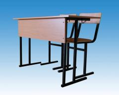 SU-1.6 School desk student's + 2 chairs,