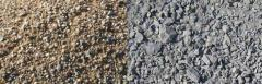 Sand-and crushed-stone and gravel mix