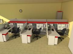 Офисная мебель 6 рабочих мест комплект