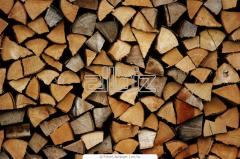 Firewood is chipped