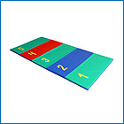 Children's game mats - a mat Who is farther