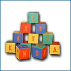 Didactic grant - cubes letters
