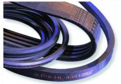 Belt privodny for agricultural machinery in