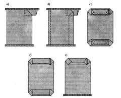 Paper bags of the closed valve type