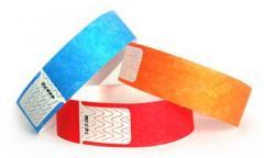 Control bracelets of Tyvek