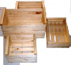 Wooden box for expor