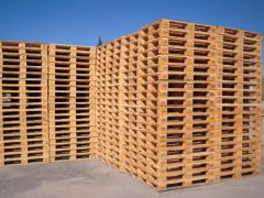 Pallets cargo from the producer