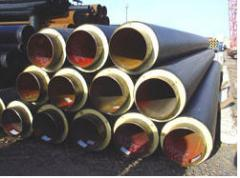 Pipes are heat-insulated