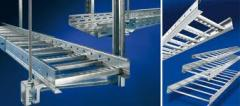 Trays are cable perforated, ladder, galvanized