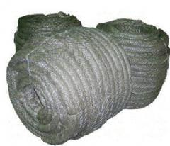 Cord basalt heat-insulating for oil-processing