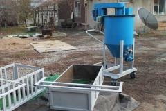 Equipment for production of foam concrete blocks