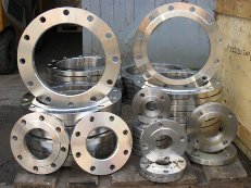 The flanges forged