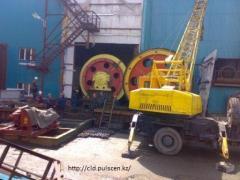 Mine lifting installations