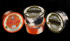 Caviar snack red, black from the producer