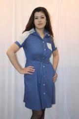 Платья джинсовое сафари 48-58