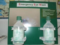 Station washing for eyes