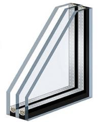 Double-glazed windows are two-chamber