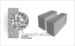 Heatblocks from polysterene concrete