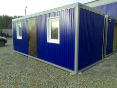 Portacabins on the basis of containers